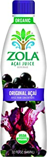 Zola Brazilian Superfruits Açaí Berry Original Juice 32 Ounce Bottles (Pack of 8)