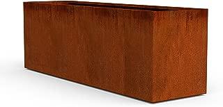 PLANTERCRAFT Corten Steel Planter, Long Rectangle Planter Box, 72