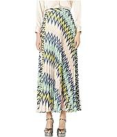 M Missoni - Maxi Plizze Skirt in Zigzag Print
