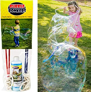 2 Bubble Wands & Bubble Mix for 1 Gallon. Kids Love Big Bubbles. Fun for Everyone. Just add Water to The Giant Bubble Solution.