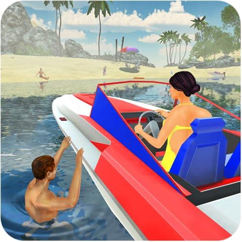 Strand-Rettungsschwimmer-Rettungsteam 3D