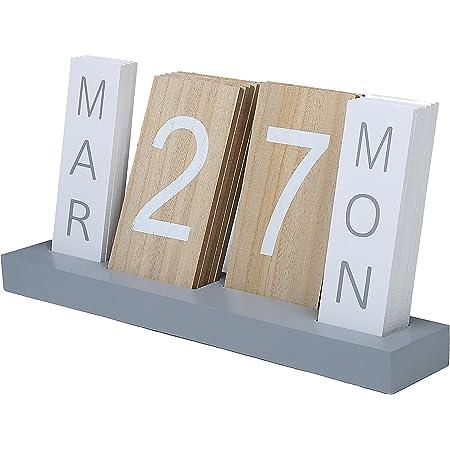 BESPORTBLE Wooden Calendar Perpetual Calendar Wooden Block Daily Calendar for Photography Props Office Household Desk Decor