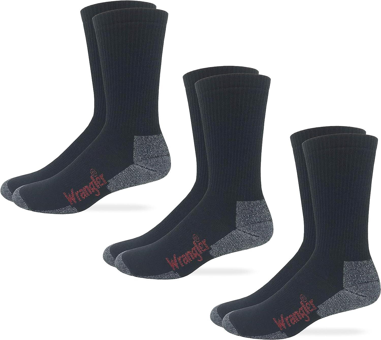 Wrangler Premier Collection Mens All Season Lightweight Merino Wool Casual Crew Socks 3 Pair Pack