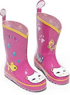 Kidorable Girls' Lucky Cat Rain Boot (Toddler/Little Kid)