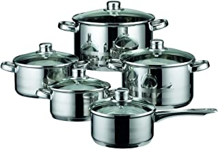 ELO 99805 Skyline Stainless Steel Kitchen Induction Cookware Pots and Pans Set with Air Ventilated Lids, 10-Piece