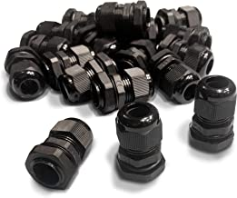 MGI SpeedWare Strain Relief NPT Nylon Cord Grip Cable Glands - 20 Pack (1/2