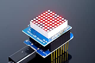 ACROBOTIC WeMos ESP8266 D1 Mini 8×8 Dot Matrix Shield for Arduino NodeMCU Raspberry Pi Wi-Fi IoT | Red LED