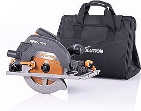 Evolution Power Tools - Sierra circular multimaterial R185CCSX+ con guía compatible (paquete plus con bolsa de transporte), 185 mm, 230 V