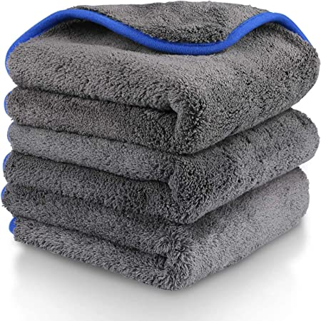 Fixget Auto Mikrofasertuch 3er Set Auto Trockentücher Wasch Microfaser Handtuch Reinigungstücher Für Auto Waschen Polieren 40x40cm 1200gsm Auto
