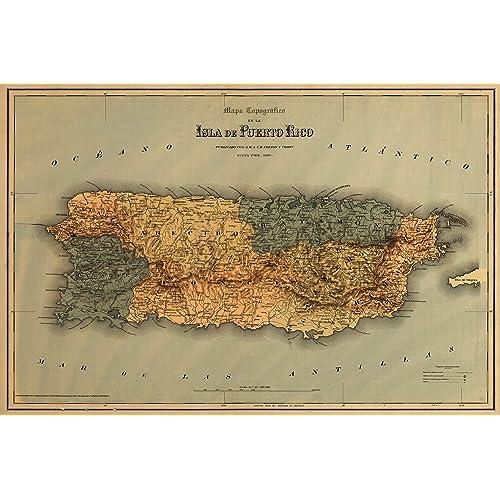 Puerto Rico Maps: Amazon.com