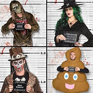Bloody Line Up Police Halloween Creepy Photo Booth Selfie Station Backdrop & Props Fun Party Decorations Accessories