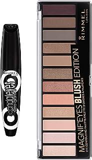 Rimmel Eye Contour Kit with Scandaleyes Retroglam Mascara and Magnif`eyes Eyeshadow Palette, Blush Edition, Multi