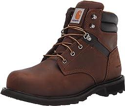 "Carhartt Men's Traditional Welt 6"" Brown Steel Toe CMW6234 Construction Boot, Dark Bison Oil Tanned, 9"