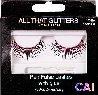pink false eyelashes