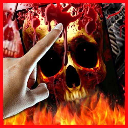 Blood Drop Skull on Fire LWP