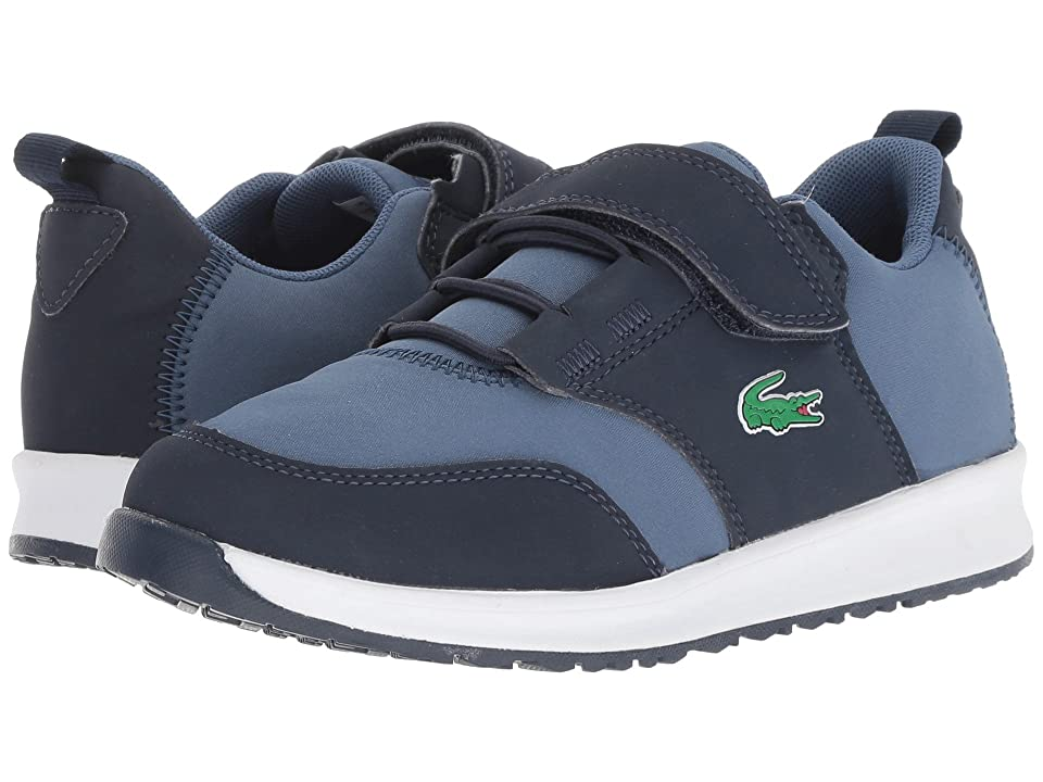Lacoste Kids L.Ight 318 (Little Kid) (Navy/Dark Blue) Kid