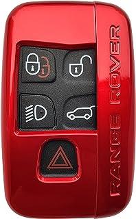 CK+ Land Rover ABS lackiert für Auto Schlüssel Hülle Key Cover Case Etui für Evoque Velar Discovery Sport Range Rover   Rot