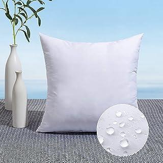 MIULEE Outdoor Pillow Insert Waterproof 24x24 Throw Pillow Insert Premium Hypoallergenic Pillow Stuffer Sham Square for Pa...