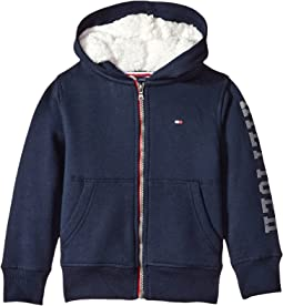 Tommy Hilfiger Kids - Sherpa Lining Full Zip Hoodie (Toddler/Little Kids)