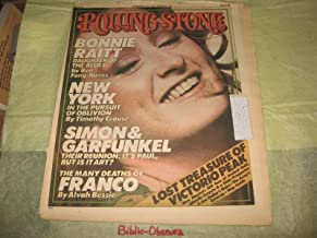 Rolling Stone Magazine, December 18th 1975, Issue No. 202, Bonnie Raitt on cover (Bonnie Raitt; daughter of the blues, Simon & Garfunkel, the many deaths of Franco, lost treasure of Victorio Peak, Issue No. 202)