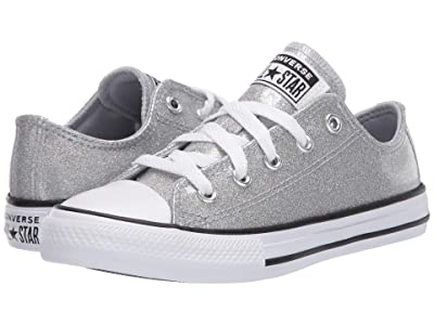 Converse Kids Chuck Taylor(r) All Star(r) Coated Glitter (Little Kid/Big Kid) (Wolf Grey/Black/White) Girl
