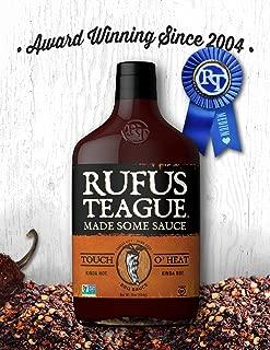 Rufus Teague TOUCH O' HEAT BBQ SAUCE – 16oz Bottle – World Famous Kansas City BBQ – Kinda Hot. Kinda Not. Thick & Rich made with Premium Ingredients – Gluten-Free, Kosher & Non-GMO.