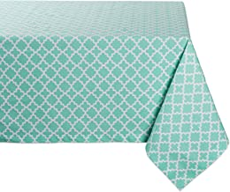 DII Lattice Cotton Table Runner for Dining Room, Foyer Table, Spring Parties and Everyday Use - 14x108, Aqua, 60x120