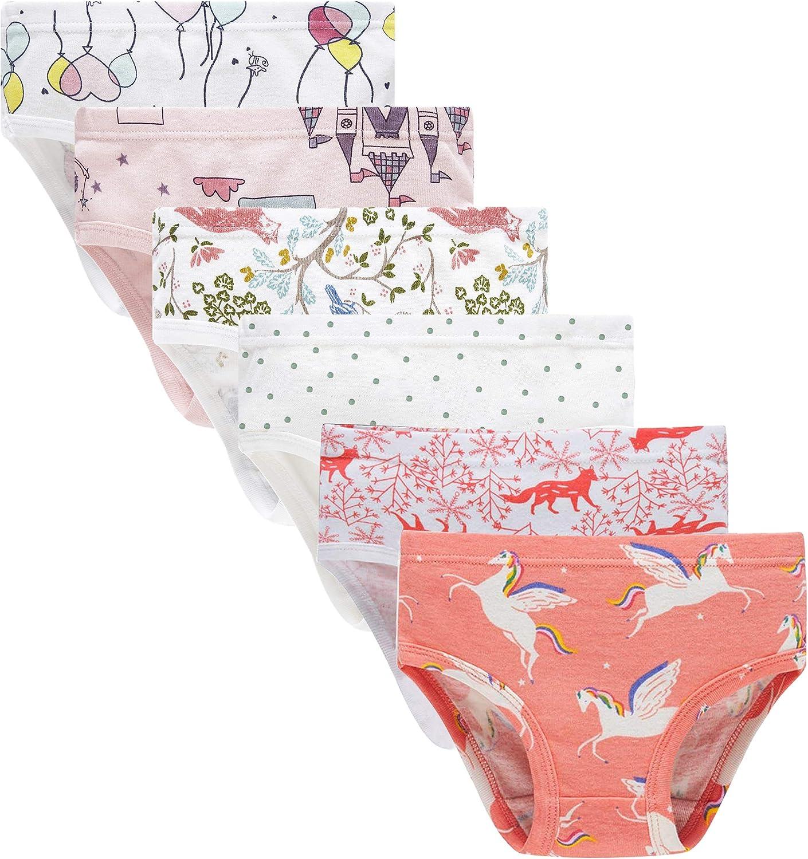 Cadidi Dinos Little Girls Soft 100/% Cotton Underwear Toddler Panties Kids Assorted Briefs