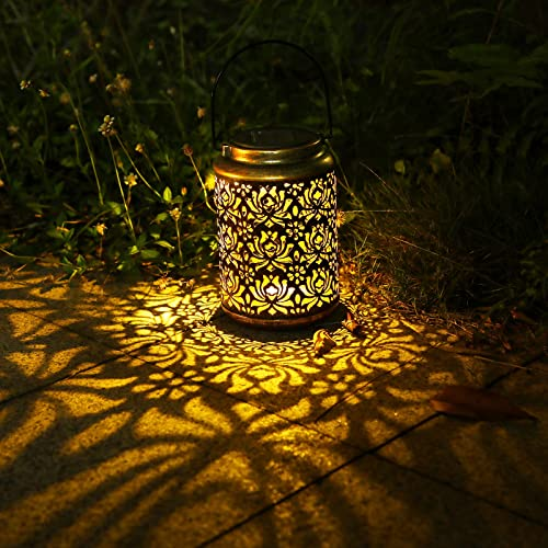 wholesale BENBOR Solar Lanterns Outdoor, Solar Garden Metal Lanterns lowest Waterproof, LED Hanging Lanterns Solar Powered with Handle, outlet online sale Solar Lantern Outdoor Hanging Lanterns Lighting for Outside Patio Garden Yard outlet sale