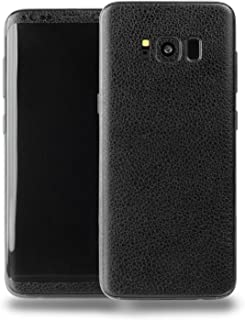 SOJITEK Samsung Galaxy S8 Plus Black Leather Texture Protective Vinyl Skin Decal Skins & Wraps