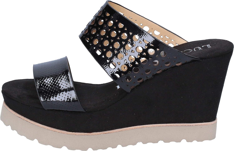 LUCA STEFANI Sandals Womens Black