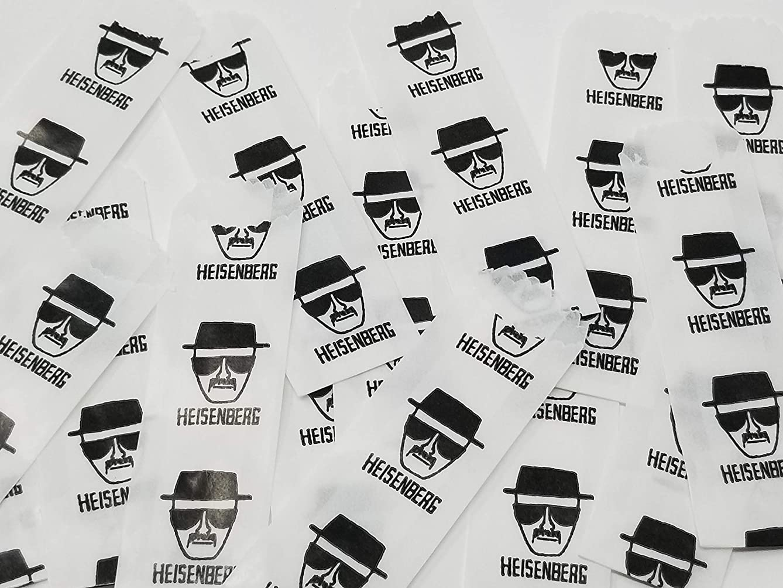 Vellum Glassine Stamp Wax Paper Envelope Bags, Colors & Designs, Medium, 25mm/27mm (Heisenberg, 600 Bags)