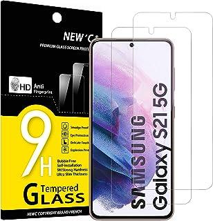 "NEW'C 2-Stuks, ScreenProtector voor Samsung Galaxy S21 5G (6.2""), Gehard Glass Schermbeschermer Film 0.23 mm ultra transpa..."