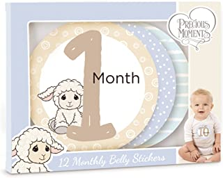 Precious Moments 172426 Baby's First Year Monthly Milestones Baby Belly Sticker Set