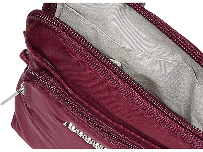 Baggallini Anti-theft Activity Crossbody Eggplant Handbags