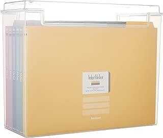ナカバヤシ インデックス ファイルボックス 書類収納ケース F2 クリア フボI-F2C