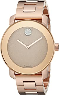 Women's 3600335 Crystal-Accented Rose Gold-Tone Stainless Steel Watch