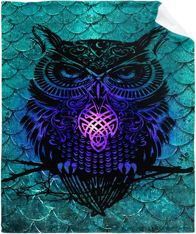 Owl Blanket Gift for Girl Sale Lightweig Kawaii Manufacturer OFFicial shop Women Throw Lover