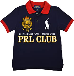 adeab8c95 Polo Ralph Lauren Boys Toddlers Big Pony Embroidered Polo Shirt Navy Blue  Red