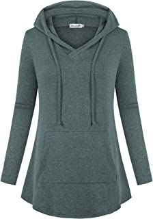 kissmay Women's Plus Size Hoodies Sweatshirt Long Sleeve V Neck Casual Tunic Top