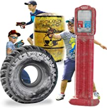 Combat Arena Inflatable Battle Obstacles Set - Compatible with Nerf, Laser Tag, Dart Guns, and Water Gun Games - Large Tir...