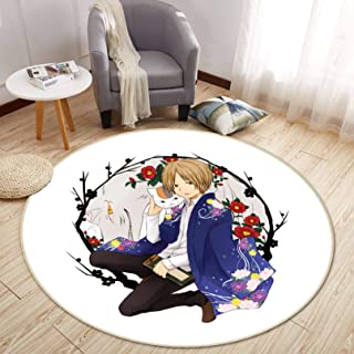 3D Natsume Yuujinchou 69 Japan Anime Game Non Slip Rug Room Mat Round Quality Elegant Carpet US AJ WALLPAPER Zoe (160cm【63