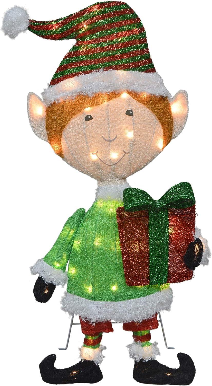 TisYourSeason 32-Inch Pre-Lit Candy Cane Y Lane 特価キャンペーン 驚きの値段で Elf 2D Christmas