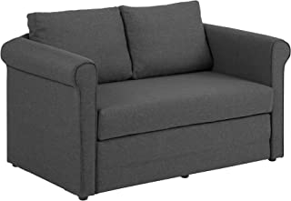 Amazon Brand - Movian Stavis - Sofá cama, 74 x 146 x 87 cm (largo x ancho x alto), gris