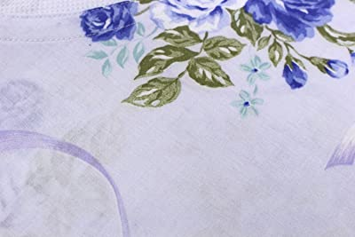 日本製 高級かいまきカバー ネット張り 花柄ブルー 140×200cm MO-5000-H-BL