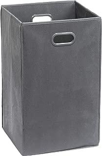 Simple Houseware Foldable Closet Laundry Hamper, Dark Grey