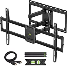 USX MOUNT Full Motion TV Wall Mount for Most 47-84 inch Flat Screen/LED/4K TVs, TV Mount Bracket Dual Swivel Articulating ...