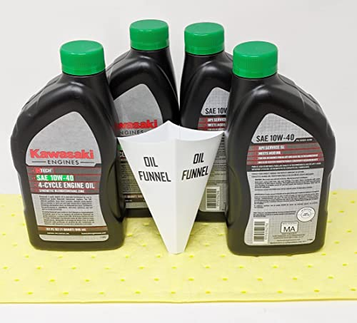 lowest Kawasaki Pack of 4 99969-6296 2021 Genuine OEM K-Tech SAE 10W-40 4-Cycle Engine discount Oil … online