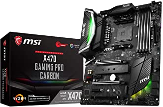 MSI Performance Gaming AMD X470 Ryzen 2 AM4 DDR4 Onboard Graphics SLI ATX Motherboard (X470 Gaming PRO Carbon)