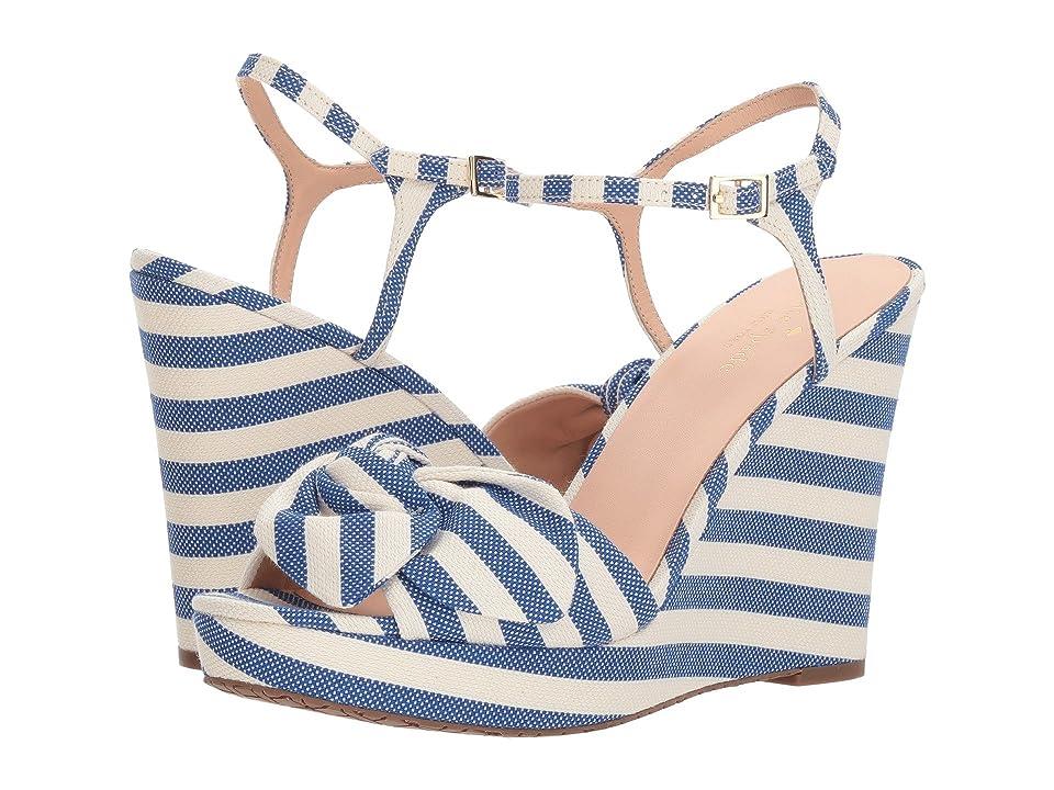 Kate Spade New York Janae (Blue/Cream Striped Canvas) Women